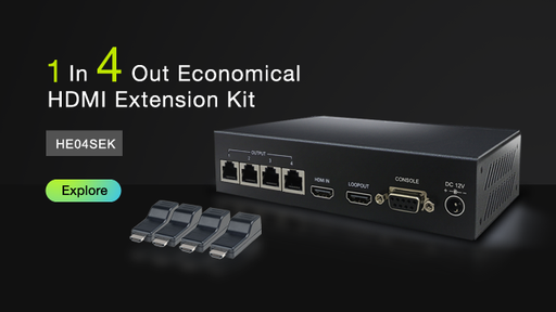 [HE04SEK] 1 til 4 HDMI Distribution Amplifier CAT5e Extender Kit